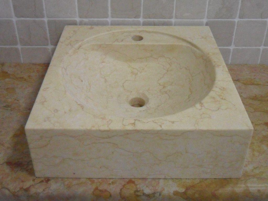 Lavabo d 39 appoggio mod anna - Lavabi bagno in pietra ...