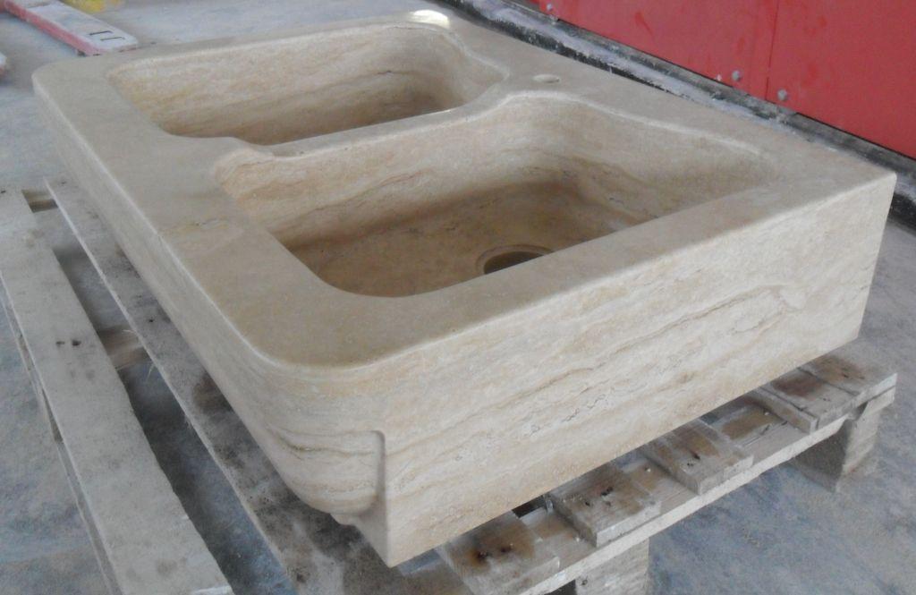 Lavello in pietra modello roma - Lavelli in pietra per cucina ...