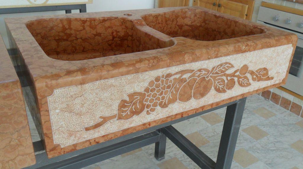 Lavello in pietra modello venezia - Lavello cucina in pietra ...