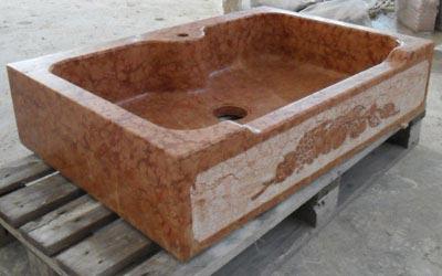 Lavello in pietra modello Modena Lavorazione Marmi a Venezia: Marmi Piccolo