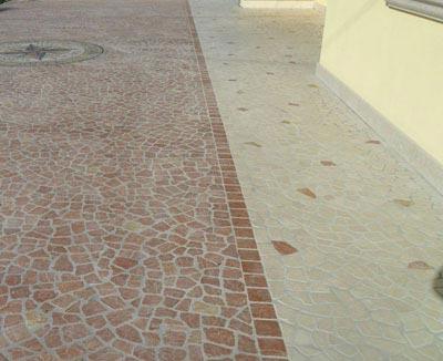 Palladiana trani e rosso asiago Lavorazione Marmi a Venezia: Marmi Piccolo