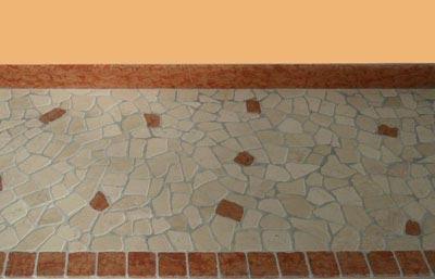 Palladiana botticino rosso asiago Lavorazione Marmi a Venezia: Marmi Piccolo