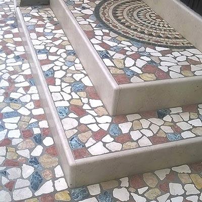 Palladiana in marmo produzione pavimenti da esterno a - Pavimentazione da esterno ...