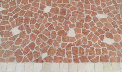 Palladiana rosso asiago e botticino Lavorazione Marmi a Venezia: Marmi Piccolo