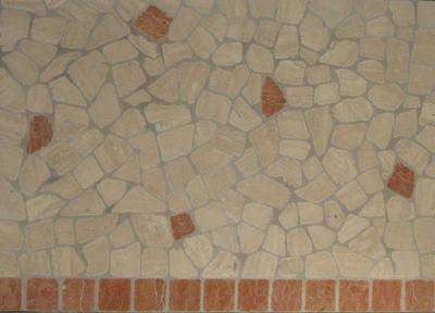 Palladiana travertino chiaro rosso asiago Lavorazione Marmi a Venezia: Marmi Piccolo