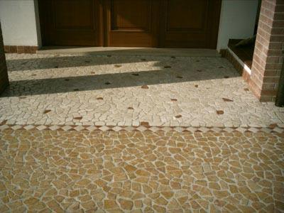 Palladiana botticino e giallo reale Lavorazione Marmi a Venezia: Marmi Piccolo