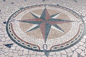 Rosa dei venti diametro 180 cm Lavorazione Marmi a Venezia: Marmi Piccolo