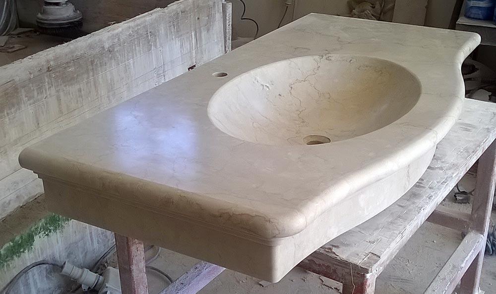 Lavandino da bagno in botticino - Lavandino da incasso bagno ...