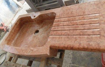 Lavello rosso Asiago Lavorazione Marmi a Venezia: Marmi Piccolo
