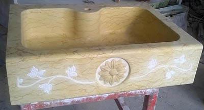 Lavello in giallo silvia oro