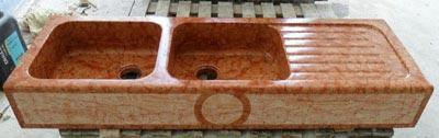 Lavello in rosso asiago Lavorazione Marmi a Venezia: Marmi Piccolo