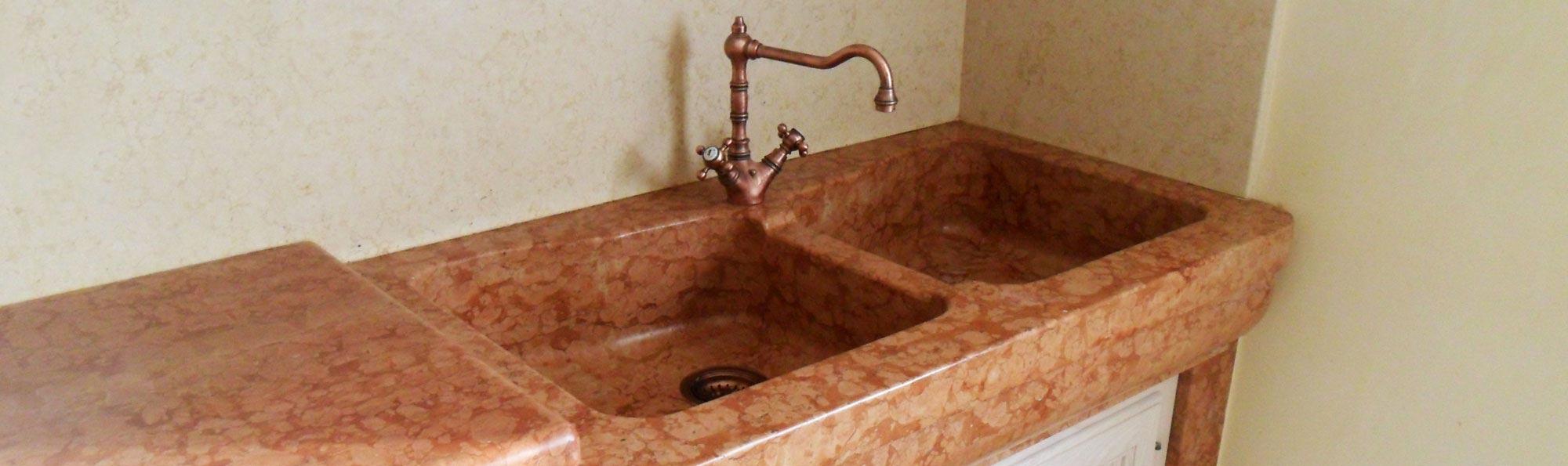 Lavorazioni del marmo pavimenti palladiana lavabi in - Lavello cucina in pietra ...